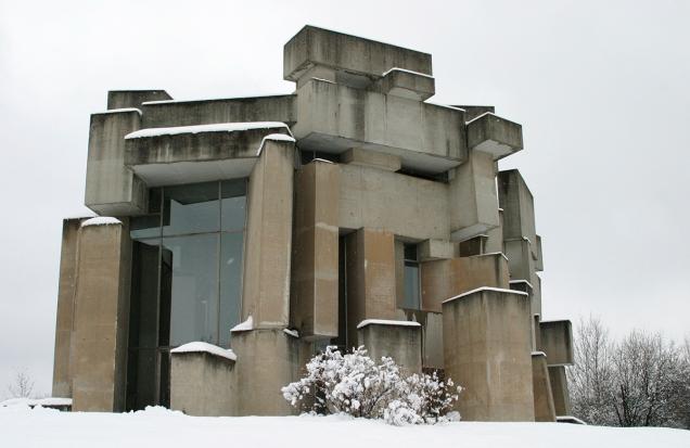Wotruba-Kirche im Winter